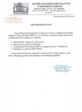 Zespol placowek specjalnych w Bystrzycy Gornej